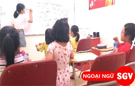 SGV, dạy kèm tiếng Anh trẻ em Bình Thạnh