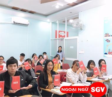 SGV, Học kèm IELTS tại trung tâm Anh Ngữ SGV ở Thủ Đức