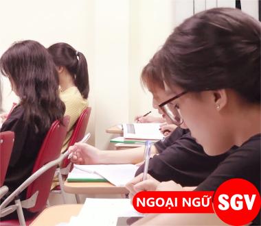 SGV, học tiếng Anh cấp tốc quận Phú Nhuận