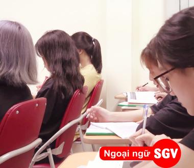 sgv, khai giảng lớp tiếng hoa quận 11