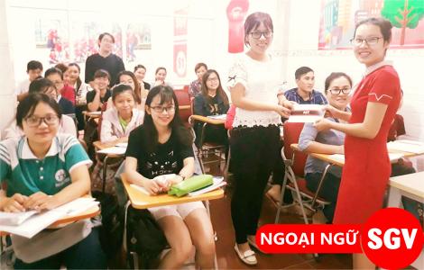 SGV, khoá tiếng Anh giao tiếp tại trung tâm SGV Tân Phú bao nhiêu tiền.