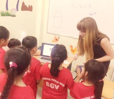 SGV, Lớp tiếng Anh giáo viên nước ngoài cho trẻ em ở Thủ Dầu Một