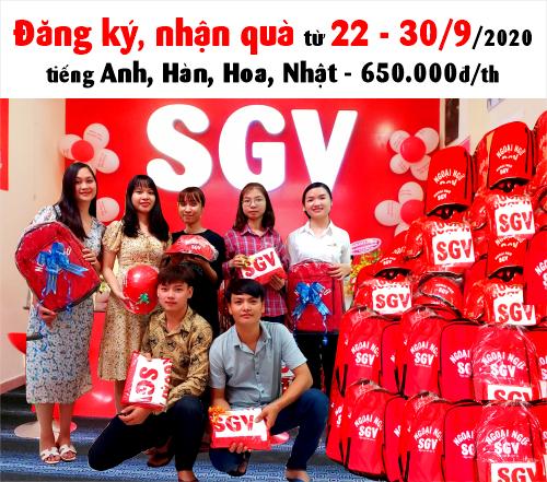 SGV thông báo Tặng Quà từ 22 - 30/9/2020